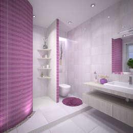حمام تنفيذ Студия дизайна Виктории Силаевой