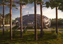 UFO House: Дома в . Автор – Архитектурное и дизайнерское бюро WithArch