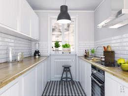 Retro Kuchnia: styl , w kategorii Kuchnia zaprojektowany przez FOORMA Pracownia Architektury Wnętrz