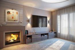 modern Living room by АЛЕКСАНДР ЕЛАШИН. СТУДИЯ ДИЗАЙНА ЭЛИТНЫХ ИНТЕРЬЕРОВ.