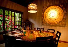 Comedores de estilo rústico por Jaqueline Vale Arquitetura