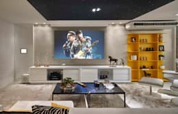 Decora Lider Vitória - Home Theather: Salas multimídia modernas por Lider Interiores