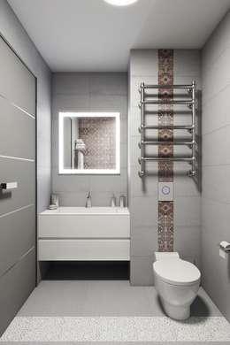 Projekty,  Łazienka zaprojektowane przez Дизайн студия Алёны Чекалиной
