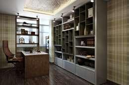 Projekty,  Domowe biuro i gabinet zaprojektowane przez Дизайн студия Алёны Чекалиной