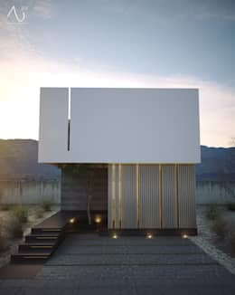 Casas de estilo minimalista por 21arquitectos