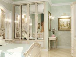 غرفة نوم تنفيذ АЛЕКСАНДР ЕЛАШИН. СТУДИЯ ДИЗАЙНА ЭЛИТНЫХ ИНТЕРЬЕРОВ.