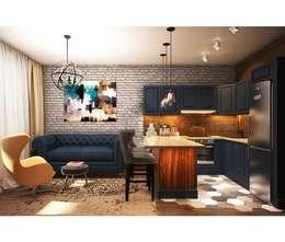 Salas / recibidores de estilo industrial por Home Emotions