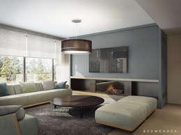 minimalistic Living room by Bezmenova