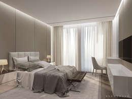 Dormitorios de estilo minimalista por Bezmenova