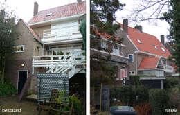 Transformatie woonhuis Arnhem: moderne Huizen door Van de Looi en Jacobs Architecten