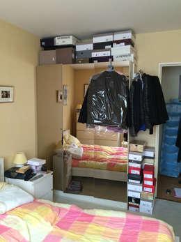 Chambre avant - Appartement Courbevoie:  de style  par Nuance d'intérieur