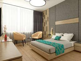 Oksijenn – Born City Otel: modern tarz Yatak Odası