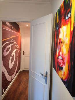 Appartement Marly-Le-Roi- Couloir après :  de style  par Nuance d'intérieur