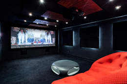 modern Media room by Venturi Home Solutions