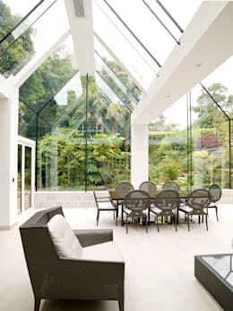 Structural Glass Conservatory, Cornwall: modern Conservatory by The Bazeley Partnership