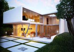Visualizzazioni interni: Case in stile in stile Moderno di PlanimetrieArredate.it