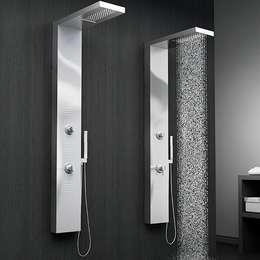 Colonne de douche hydromassante mécanique MIZU SAGOBAR: Salle de bain de style de style Moderne par Batiwiz SAS