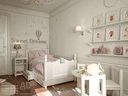 Дизайн интерьера детской комнаты в двухэтажном доме, 120 кв. м, Московская область: Детские комнаты в . Автор – Ad-home