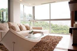 PH Altozano: Salas / recibidores de estilo moderno por VODO Arquitectos