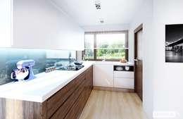 Projekt domu Lea II (z wiatą) | kuchnia : styl , w kategorii Kuchnia zaprojektowany przez Pracownia Projektowa ARCHIPELAG