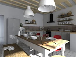 rustic Kitchen by Sandia Design