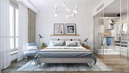 minimalistic Bedroom by 1+1 studio