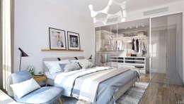 minimalistische Slaapkamer door 1+1 studio