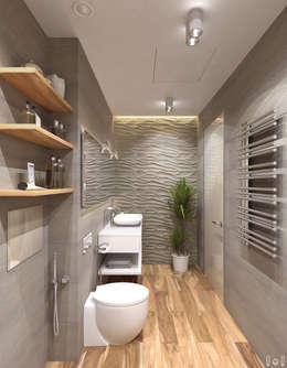 minimalistische Badkamer door 1+1 studio