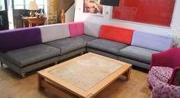 Exemples de realisations: Salon de style de style Moderne par Pasquier