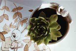 Maceta de cerámica Antonio: Hogar de estilo  por Almacén Feliz