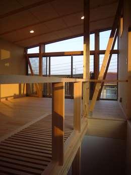 大きな屋根裏部屋 : 小形徹*小形祐美子 プラス プロスペクトコッテージ 一級建築士事務所が手掛けた寝室です。