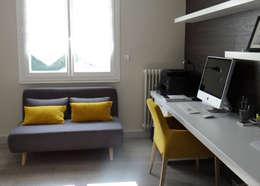 Estudios y despachos de estilo moderno por UN AMOUR DE MAISON