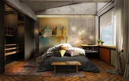 industrial Bedroom by he.d group