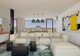 Salas de estilo moderno por José Tiago Rosa