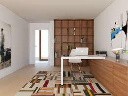 moderne Studeerkamer/kantoor door José Tiago Rosa