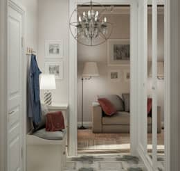 Pasillos y recibidores de estilo  por Ольга Бондарь