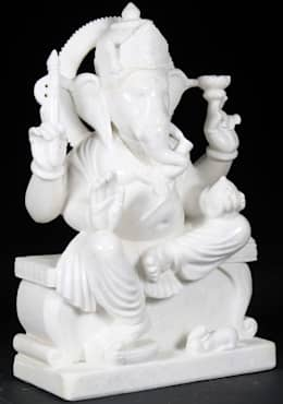 White Marble Ganesha:  Artwork by Vinod Murti Museum