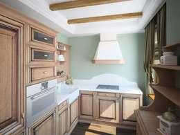 ПРИРОДНЫЕ СОСТАВЛЯЮЩИЕ: Кухни в . Автор – Дизайн студия Алёны Чекалиной
