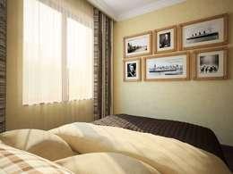 ПРИРОДНЫЕ СОСТАВЛЯЮЩИЕ: Спальни в . Автор – Дизайн студия Алёны Чекалиной