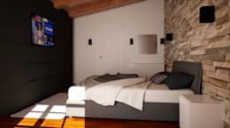 Projekty,  Sypialnia zaprojektowane przez IA-Ingegneria e Architettura_Noemi Manzella
