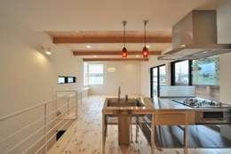 minimalistische Woonkamer door 若山建築設計事務所