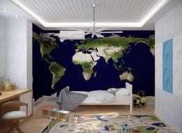 Cuartos infantiles de estilo escandinavo por Студия интерьерного дизайна happy.design