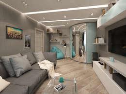 غرفة المعيشة تنفيذ Лето Дизайн