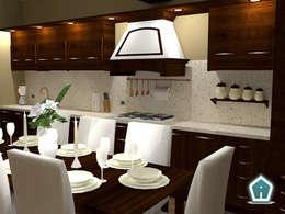 rustikale Küche von 3d Casa Design