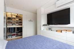 Apartamento GPG - Quarto Casal: Quartos  por Kali Arquitetura