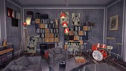 Design by Bley – Drummer's living spaces: modern tarz Oturma Odası