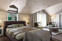 Спальня: Спальни в . Автор – Дарья Баранович Дизайн Интерьера