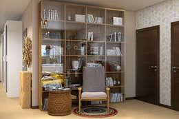 Наб.Реки Смоленки: Гостиная в . Автор – Дарья Баранович Дизайн Интерьера