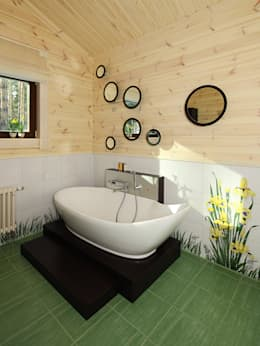 country Bathroom by Marina Pennie Design&Art