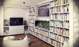 Salas de estilo industrial por RIP3D ARCHVIZ